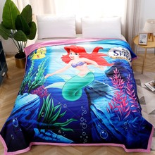 Disney Mermaid Princess Baby Summer Quilt Home Blanket Bedding For Boys Girls Children Adult 150x200cm