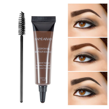 Henna Eyebrow Gel Cream Waterproof Tattoo Pen Brush Kit Women Makeup Microblading Eyebrows Tint Eyebrows Enhancer Dye Cosmetics