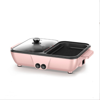 hot Mini hot pot, hot pot, hot plate, multi-function barbecue, electric fryer, oven, household hot pot