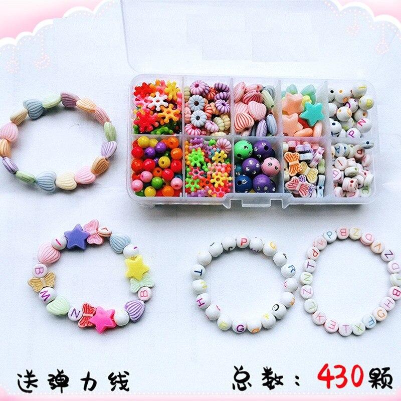 Creative Children Beaded Bracelet Toy Set GIRL'S DIY Educational Beaded Bracelet Necklace Girls Bead Toy