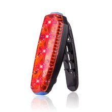 ZTTO USB Li-po Battery Rechargeable Road Mountain Bicycle Bike Clip Waterproof Safety Warning Rear Taillight Running Light WR03