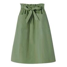 Falda Jaycosin de algodón para mujer Casual Denim Vintage cómoda alta cintura Falda larga para dama ropa para mujer falda Sexy