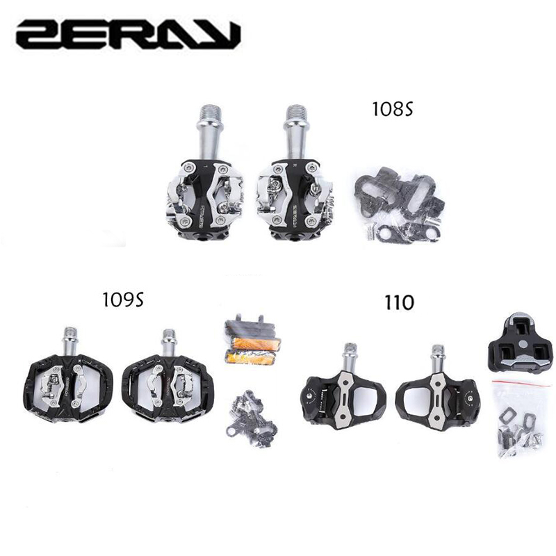 ZeRay Cycling Road Bike MTB Pedals Self-lock SPD Compatible Clipless Pedals