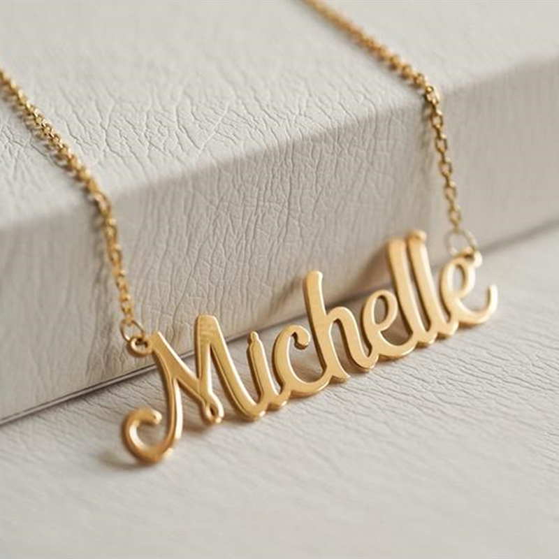 Custom Name Necklace Personalized Jewelry Silver Rose Gold Stainless Steel Nameplate Choker Necklace Women Christmas Gifts