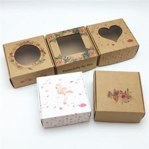 50pcs 65*65*30mm Kraft Paper Aircraft Gift Boxes Handmade Soap Packing Box Jewelry/Cake/Handicraft/Candy Storage Paper Boxes(China)