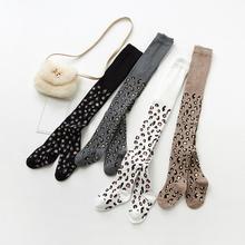 2-9t осенние детские мягкие штаны для маленьких девочек, леггинсы, Детские милые эластичные штаны с леопардовым принтом