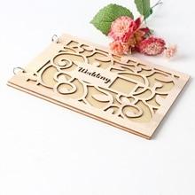 Свадебная Гостевая книга деревянная Свадебная вывеска в форме сердца принадлежности блокнот Свадебные украшения вечерние принадлежности для дня рождения Гостевая книга