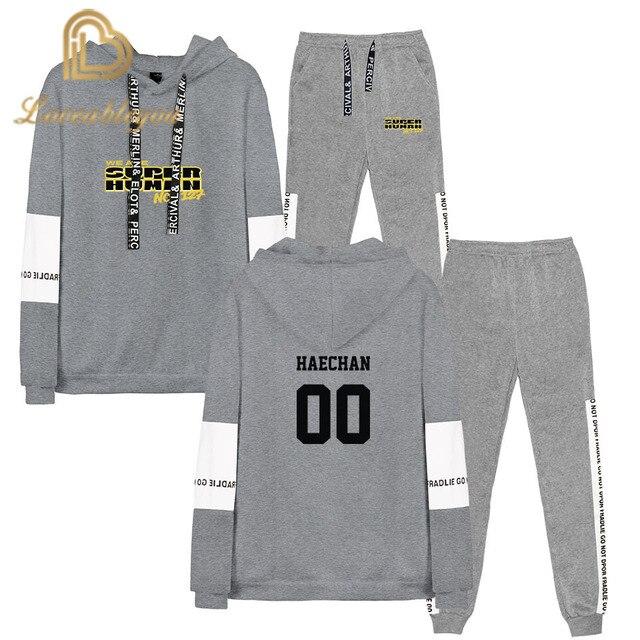 NCT 127 nous sommes surhumain sweat costume Kpop 2019 nouveaux sweats à capuche + survêtement pantalons récréatif élégant mode Sport costume
