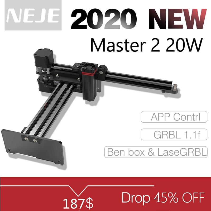NEJE Master 2 20W pulpit grawer laserowy i frez-grawerowanie laserowe i maszyna do cięcia-drukarka laserowa-laserowy Router CNC