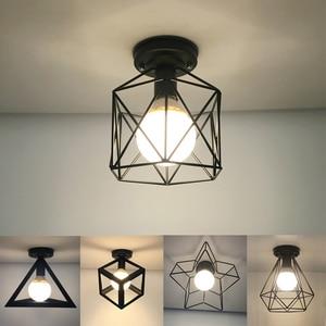 Image 1 - Moderne Nordic Zwart E27 Led Plafondlamp 85 240V Ac Lampen Voor Keuken Woonkamer Slaapkamer Veranda Balkon hotel Restaurant