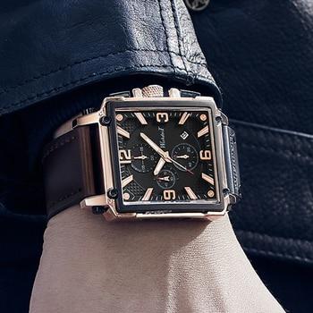 שעון יוקרתי רצועת עור לגבר  6