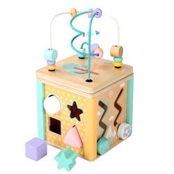Montessori Around Bead Maze Shape Cartoon Clock Learning Educational Toys Baby Wooden Montessori Toys Children Math Toys Gift