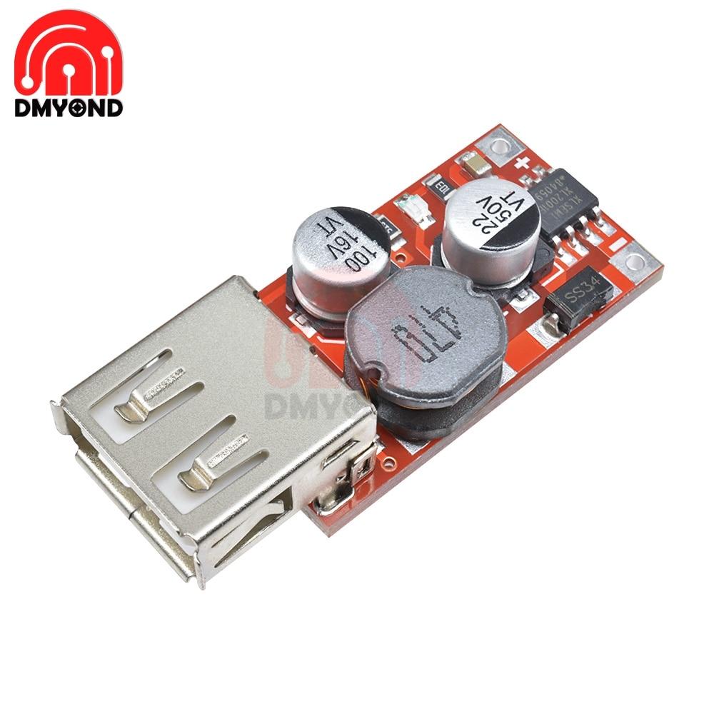 9V/12V/24V to 5V DC-DC Step Down Car Charging Car Charger 3A Output USB Module Diy Electronic Diy Kit Pcb Board