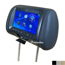Universale 7 pollici Auto poggiatesta monitor Pillow MP4/MP5 Multimedia player supporto AV/USB/SD/FM/Altoparlante/Cuffia