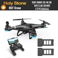 Dron Profesional de radiocontrol con cámara y GPS para niños, cuadricóptero plegable, Holy Stone, 110D/120D/240/720E, 720P, 1080P, 4K, HD