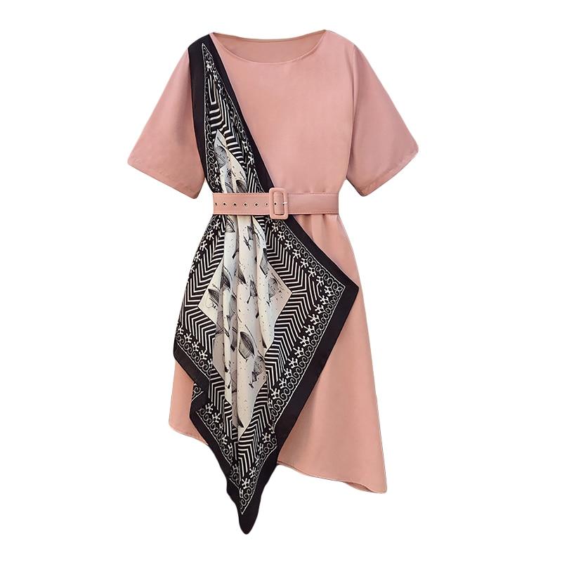 Women Large Plus Size 5XL Black Pink T