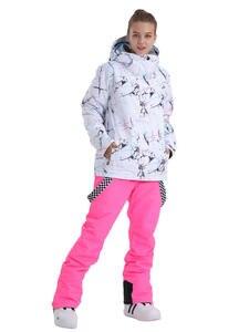 Pants Jacket Snowboard-Suit SMN Warm Waterproof Winter Women Outdoor Adult Bibs Wind-Resistant
