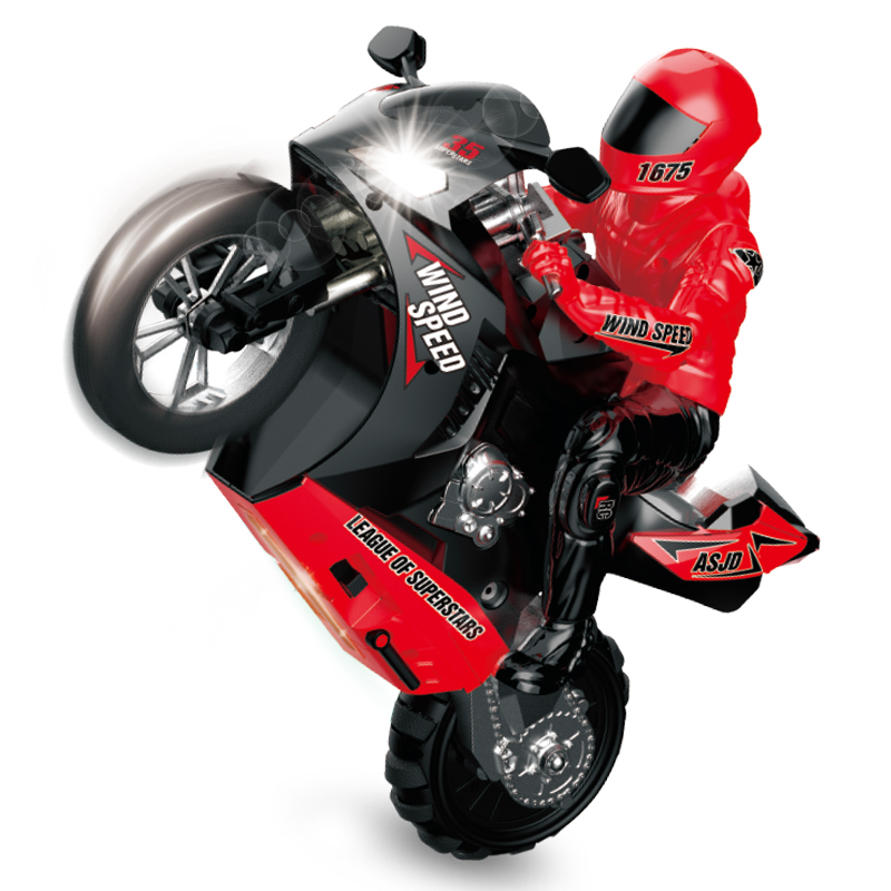 Remote Control Motorcycle Toy Stunt Racing Drift 360 degree Rotation Cool Self-balancing Electric 6-axis gyro Model Children toy