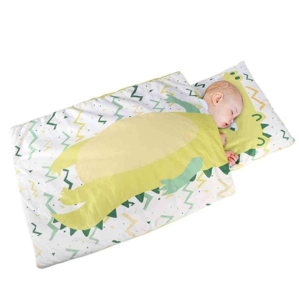 Kids Nap Mat With Removable Pillow Toddler Nap Pad For