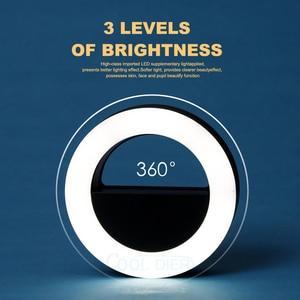 Image 2 - COOL DIER Anillo de luz LED para selfis, luz de relleno de luz nocturna portátil, carga USB, cámara de teléfono móvil, lente de foco para vídeos y fotografía