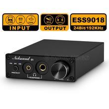 Nobsound Mini ESS9018 USB DAC OPT/COAX Digital to Analog Converter Headphone Amp 24Bit/192kHz