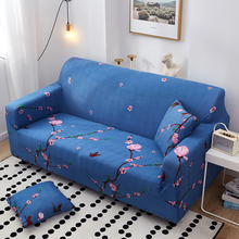4 sizes elastic solid color sofa cover for u shape sofa cover l shaped stretch seater chair sofa cover pillow case blue All-inclusive Stretch Sofa Cover Slipcovers Elastic Couch Case for Different Shape Sofa Loveseat Chair L-Style Sofa Case