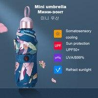 Lusso 8 nervature tasca Mini ombrello Anti UV Paraguas ombrellone pioggia antivento luce pieghevole ombrelli portatili per donna ragazza