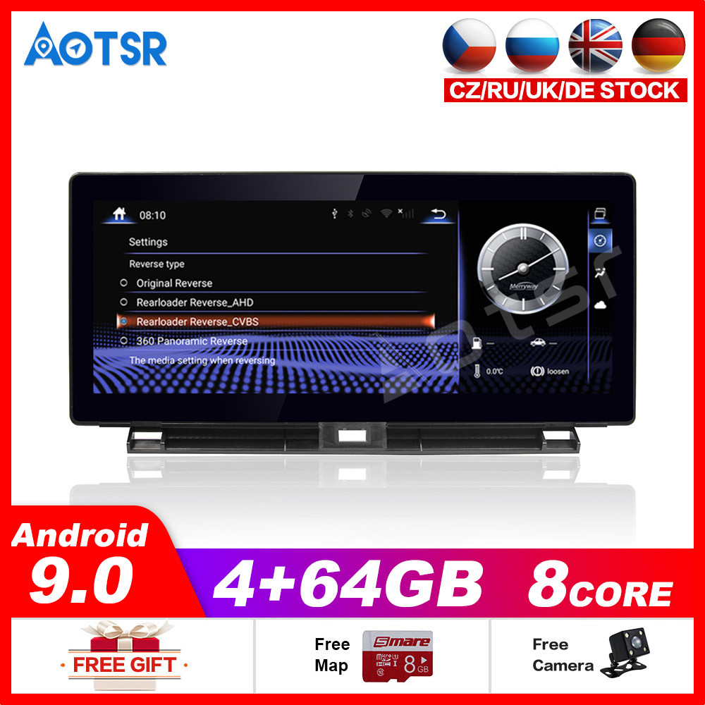 4+64GB Android9.0 System Car Multimedia Player for <font><b>Lexus</b></font> CT A10 CT200h 2011~2019 Stereo GPS DVD Radio NAVI Navigation Headunit image