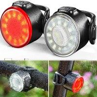 Miniluces LED traseras para bicicleta, recargable vía USB, casco de ciclismo, linterna trasera, accesorios de bicicleta a prueba de agua