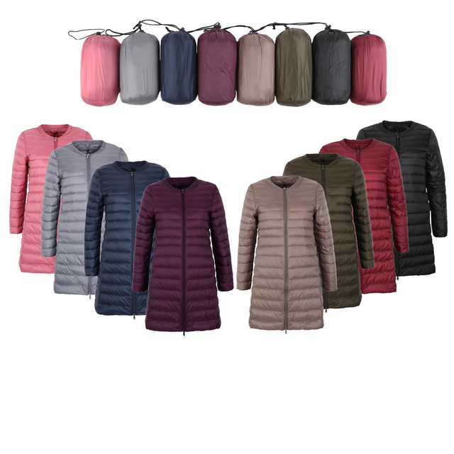 NewBang Brand Down jacket female Long Duck Down Jacket Women Lightweight Warm Linner Slim Portable ladies Coats 2