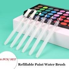1/3/6 pièces rechargeable pinceau couleur de l'eau brosse doux aquarelle pinceau encre stylo pour peinture calligraphe dessin Art fournitures