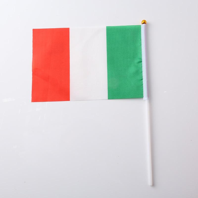 Canadian Flag Brazilian Flag Spanish Flag Italian Flag Print Stripes Fashion 30.5*21*0.5cm Terylene Nylon Nationalflag National - Цвет: Italy