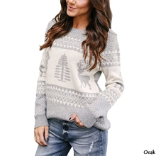 Loozykit Autumn And Winter Sweater Female Cute Christmas Knit Pullover Ladies Casual Women