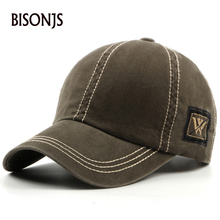 BISONJS 2020 New Fashion Men's Baseball Cap Women Outdoor Travel Breathable Snapback Caps W Embroidery Adjustable Sport Sun Hats