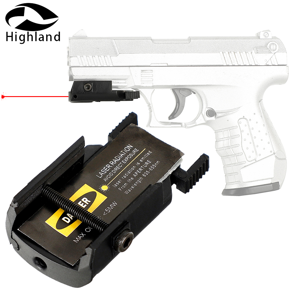 Ultrathin Compact Pistol Hunting Red Dot Laser Sight Red Scope Laser Pointer for Airsoft Low Profile 20mm Picatinny Weaver Mount image