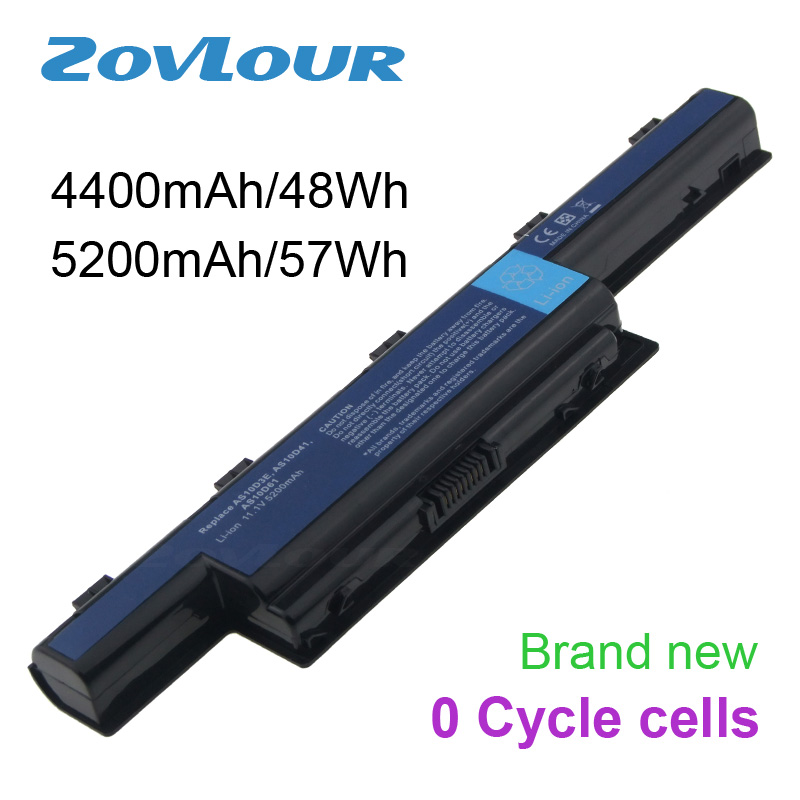 Zovlour Laptop Battery For Acer Aspire V3 V3-471 V3-471G V3-551 V3-571 V3-731 V3-771 V3-771G AS10D31 AS10D41 AS10D51 PC Notebook