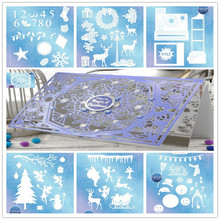 Christmas Tree Sock Snowman Deer Snowflakes Metal Cutting Dies  For Scrapbooking Craft Embossing