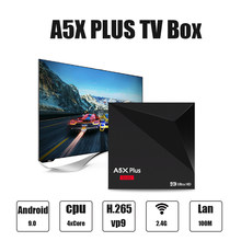 A5X Plus Smart Android 9,0 caja de TV RK3328 Quad-core 4K HDR10 USB3.0 2GB 4K 16GB Media Player mini caja de TV inteligente Wifi Tvbox(China)