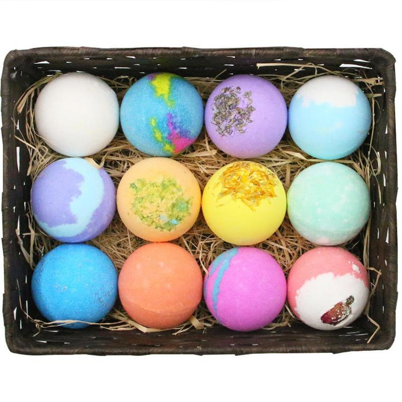 6/9/12 pcs(1 pcs 60g) Bath Bomb Skin Whitening Bath Salt Body Moisturizing Bath Bombs Ball Natural Bubble Bath Salt Ball Gift Se 1
