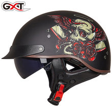 GXT Retro Motorcycle Helmet Men Women Moto Summer Open Face Scooter Biker Motorbike Riding DOT Certification