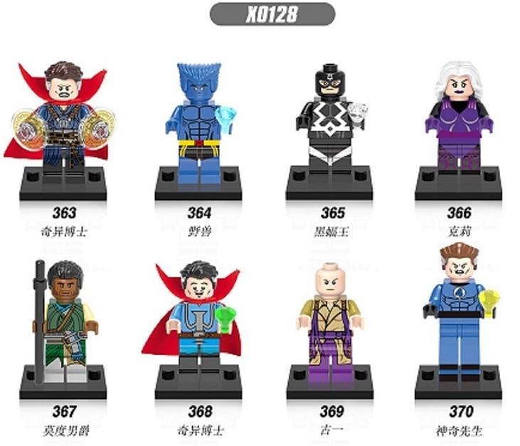Single Sale X0128 DR. Doctor Strange  Doctor Strange Black Bolt Ancient One Clea Mr. Fantastic Baron Mordo Toy For Children