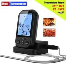 Bezprzewodowy cyfrowy termometr do mięsa zdalny Grill kuchnia termometr do gotowania do piekarnika Grill palacz z timerem w zestawie próbnik do żywności