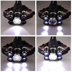 Image 5 - Прямая поставка, мощный Головной фонарь, 5 светодиодов T6, налобный фонарь с фокусировкой, фонарь для охоты, налобный фонарь для рыбалки, фонарь для кемпинга