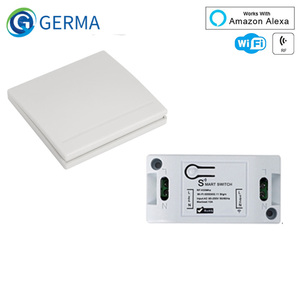 Image 1 - GERMA RF Wifi Wireless 433MHz Relay 1 CH 220V Receiver Smart Home Switch Module 86 Wall Panel Remote Control Switch 10A 2200W