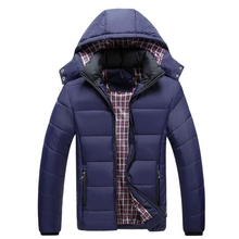 Mens winter cotton jacket 2019 new thick Korean down mens Winter Jacket Large Size