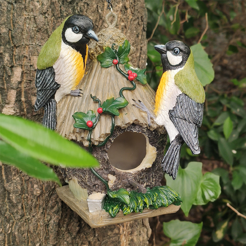 Whimsical Tree Hugger Sculpture Tree Face and Big Eye Feeder jinhuoba Wild Bird Feeder Outdoor /& Garden Decor