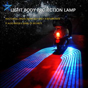 Uniwersalna lampa projektora motocykla skrzydła anioła modyfikacja motocykla części akcesoria motocyklowe tylne światło LED tanie i dobre opinie DOUBLE V Witamy Światło Wings of angels More than 10 000 hours 8V-36V Aeronautical Aluminum 2 meters Red white blue ice blue