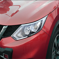 Welkerry carro capa de automóvel para nissan qashqai 2014 2015 2016 2017 abs chrome frente cabeça lâmpada luz guarnição