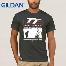 Isle Of Man Tt (Tourist Trophy) White T-Shirt 2019 Carbon Black Mens Round Neck Short Sleeve Shirt Loose Print Coton Tee