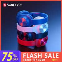 Sanlepus bluetooth sem fio fones de ouvido estéreo portátil com microfone para música fone de ouvido para iphone samsung xiaomi